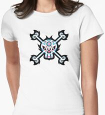 Mexican 'Day of the Dead' Skull Pattern Women's Fitted T-Shirt