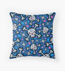Mexican 'Day of the Dead' Skull Pattern Throw Pillow