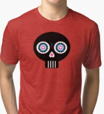Mexican 'Day of the Dead' Skull Pattern Tri-blend T-Shirt