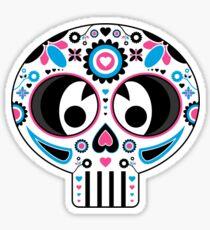 Mexican 'Day of the Dead' Skull Stripe Sticker