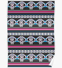 Mexican 'Day of the Dead' Skull Stripe Poster