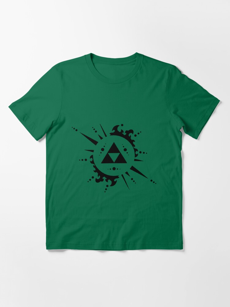 Alternate view of Triforce Black and White Essential T-Shirt