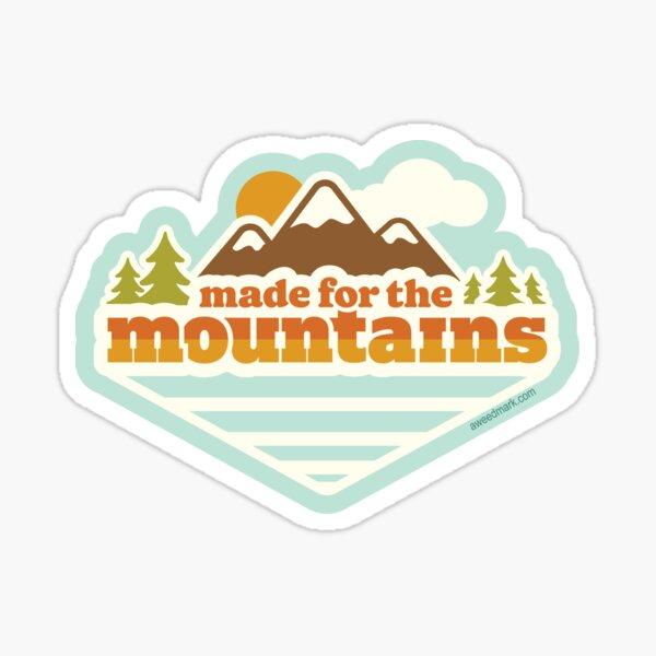 Made for the Mountains, Retro Sticker