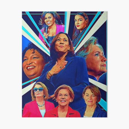 The Wonderful Women of the Democratic Party Art Board Print