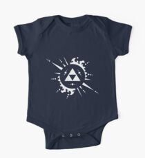 Triforce White One Piece - Short Sleeve