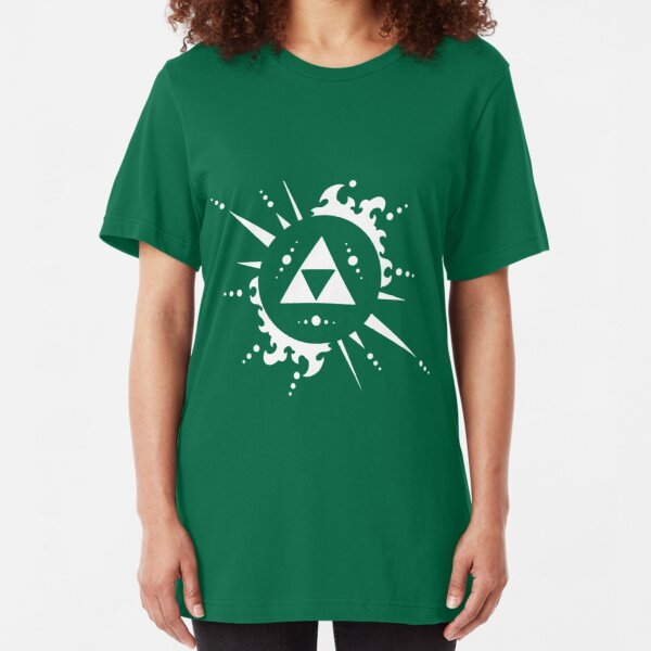 Triforce White Slim Fit T-Shirt