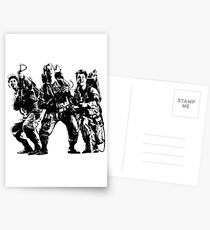 Ghostbusters Film Poster Silhouette Postcards