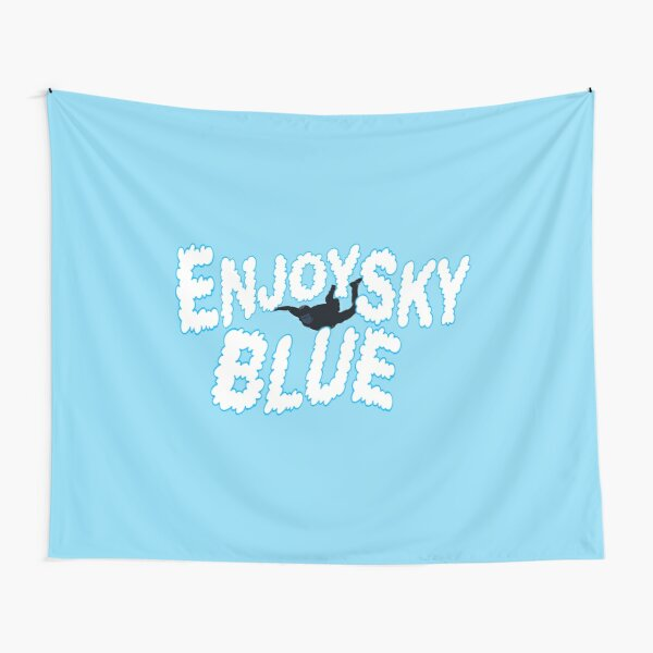 Enjoy Sky Blue Tapestry