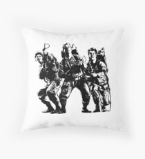 Ghostbusters Film Poster Silhouette Throw Pillow