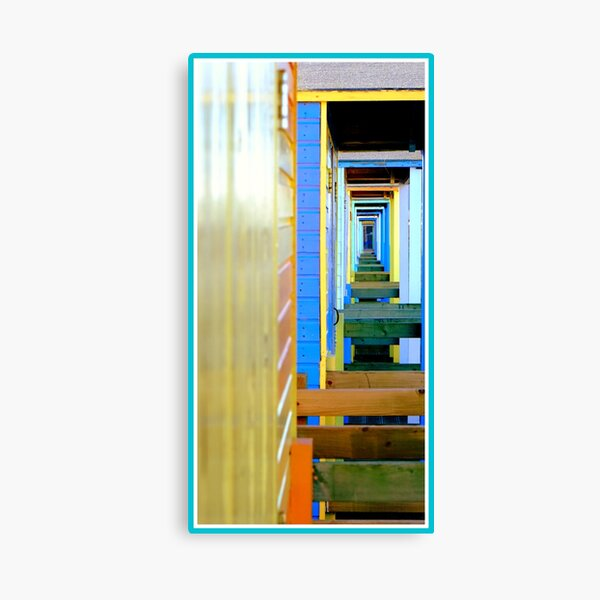 Beach hut infinity Canvas Print