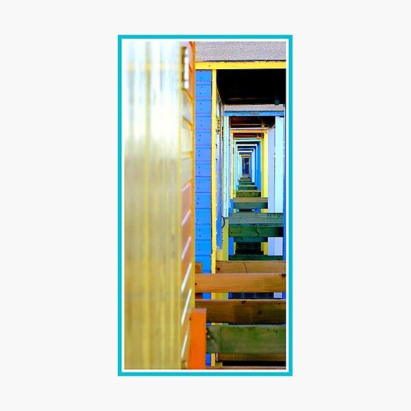 Beach hut infinity Photographic Print