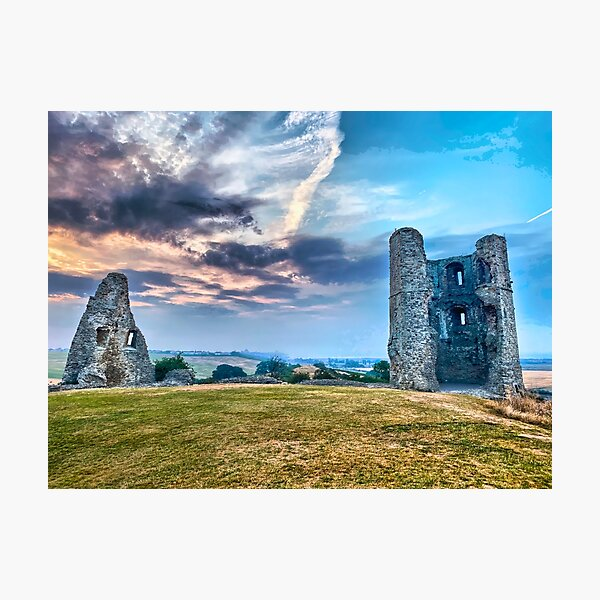 Hadleigh Castle HDR Photographic Print