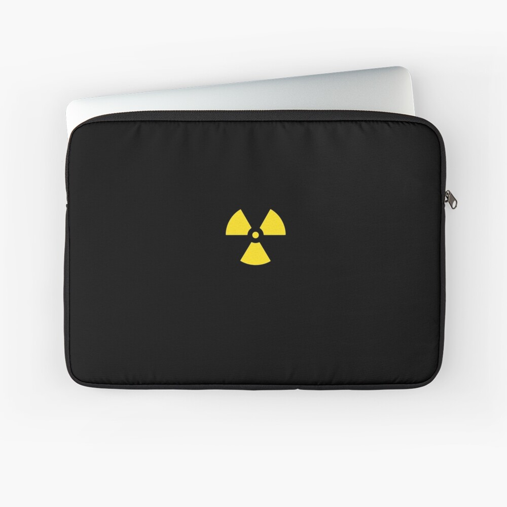 Nuclear Waste Hazard Symbol Laptop Sleeve