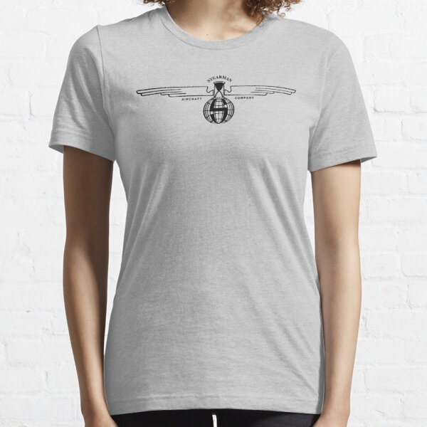 Stearman Aircraft Logo (Black) Essential T-Shirt