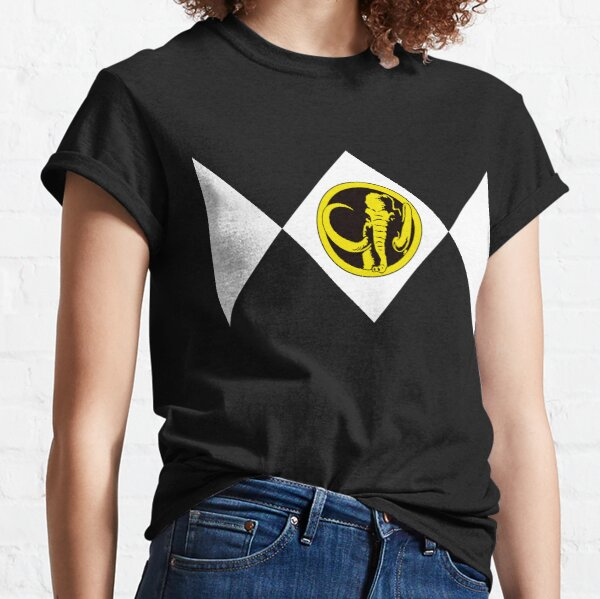 MMPR Black Ranger With Coin Classic T-Shirt