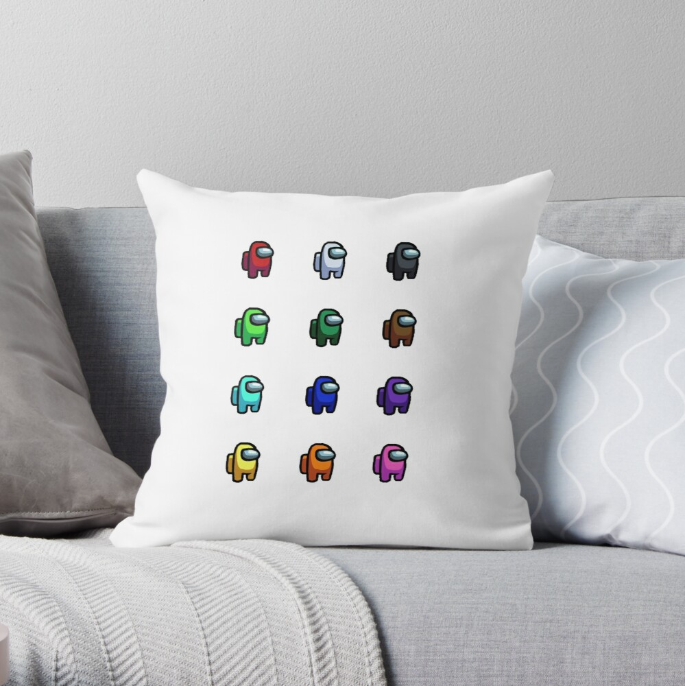 Among Us Colors And Characters Stickers Pack Sticker By Louhee Redbubble