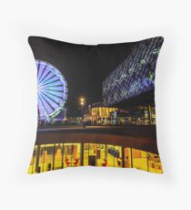 The Library of Birmingham and The Wheel Throw Pillow