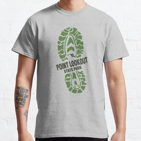 Point Lookout State Park Maryland MD Parks Hiking Boot Classic T-Shirt