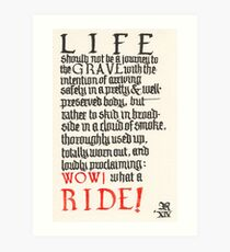 What a ride Art Print