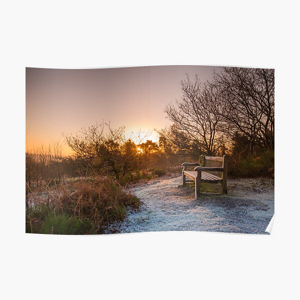 Frosty Sunrise over the Lickey Hills Poster