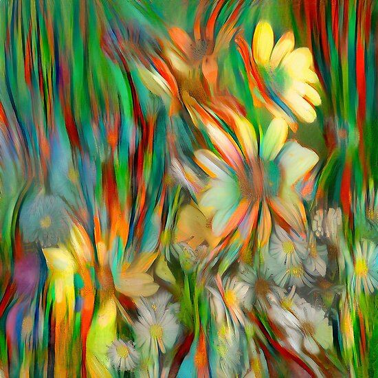 Abstract floral digital painting
