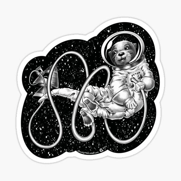 Otter Space Adventure (2) Sticker