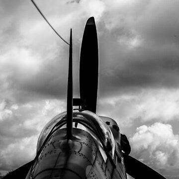 Spitfire B&W by MBeehan