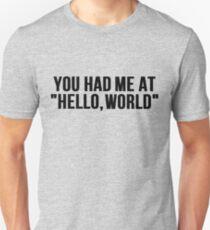 you had me at hello world