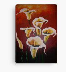 White Calla Lilies Canvas Print