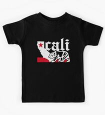 Vintage California Bear Flag (distressed) Kids Clothes