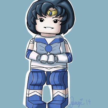 Legolized Sailor Mercury by luvusagi