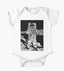 Body de manga corta para bebé Moonman