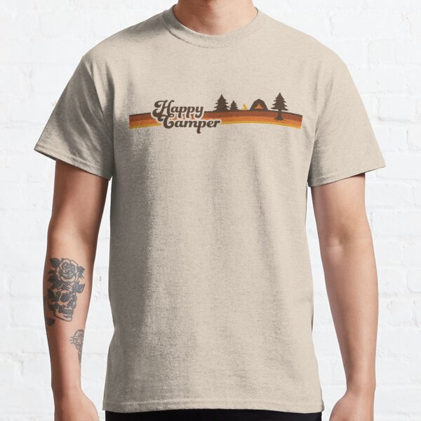 Happy Camper (Retro, 70er Jahre, Camping) Classic T-Shirt