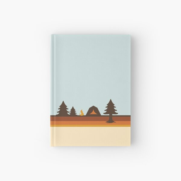 Happy Camper (Retro, 70s, Camping) Hardcover Journal
