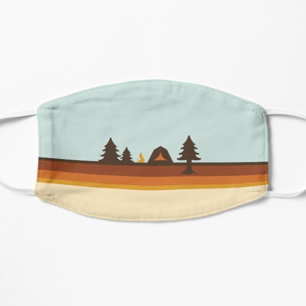 Happy Camper (Retro, 70s, Camping) Mask