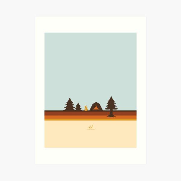 Happy Camper (Retro, 70s, Camping) Art Print