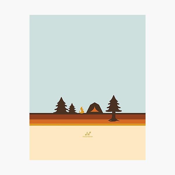 Happy Camper (Retro, 70s, Camping) Photographic Print