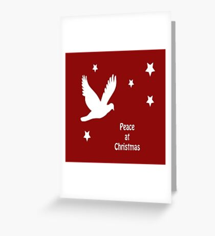 Peace At Christmas Greeting Greeting Card