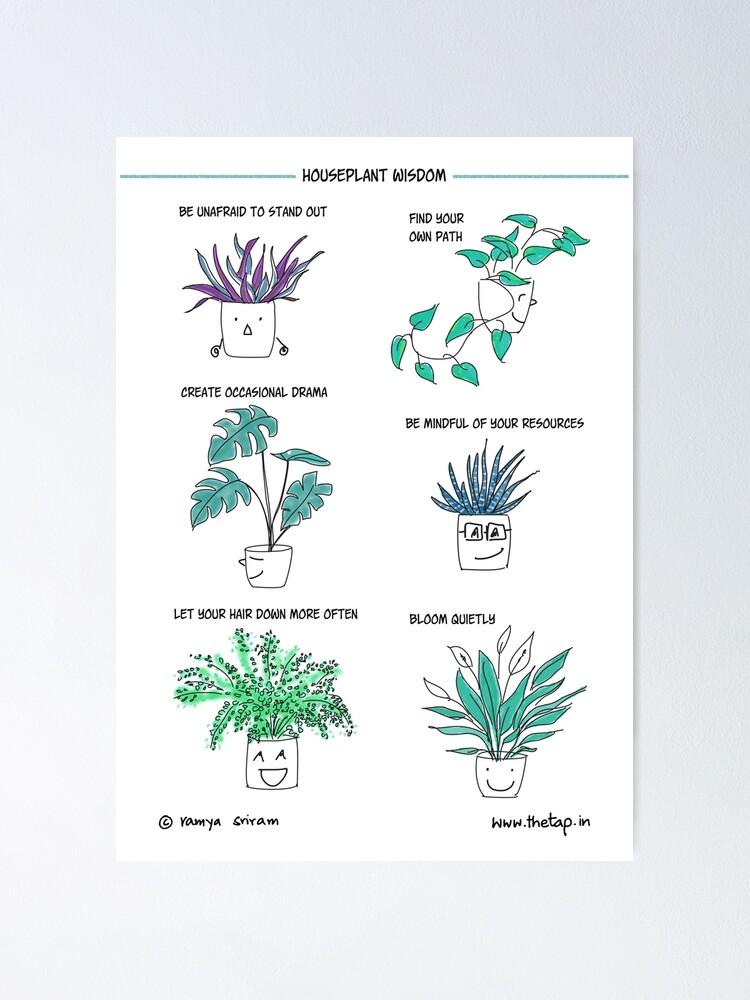 Alternate view of Houseplant wisdom Poster