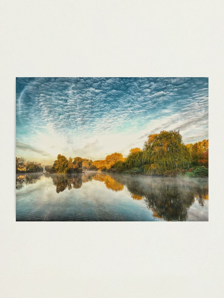 Alternate view of Misty morning at the lake  Photographic Print