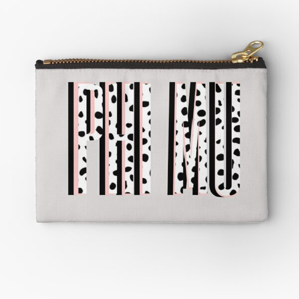 Phi Mu Sorority Design Zipper Pouch