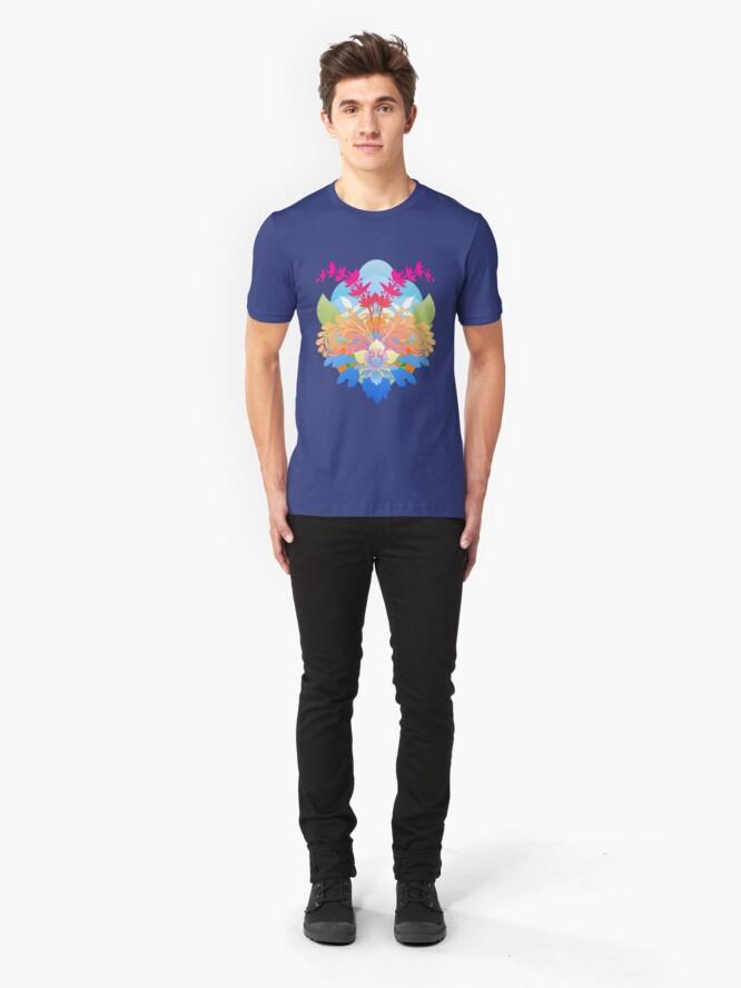Alternate view of Tropical Vectors Slim Fit T-Shirt