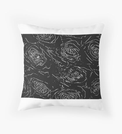 Rose Lines  Throw Pillow