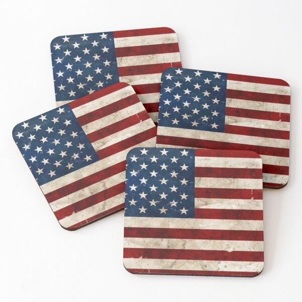 USA flag Coasters (Set of 4)