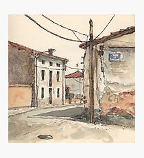 Casas en la carretera Photographic Print