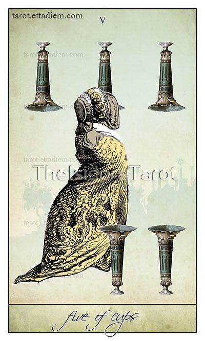 The Minor Arcana - Five of Cups by TheIsidoreTarot