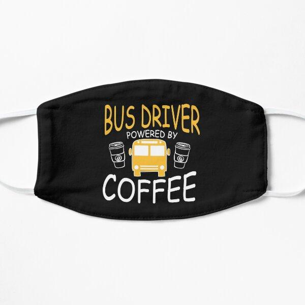 Café chauffeur d'autobus scolaire Masque sans plis