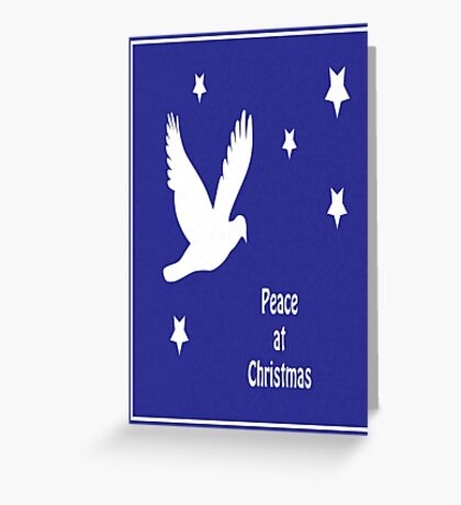 Peace At Christmas Greeting Card Greeting Card