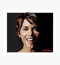 Halle Berry Triangulation Vector Photographic Print