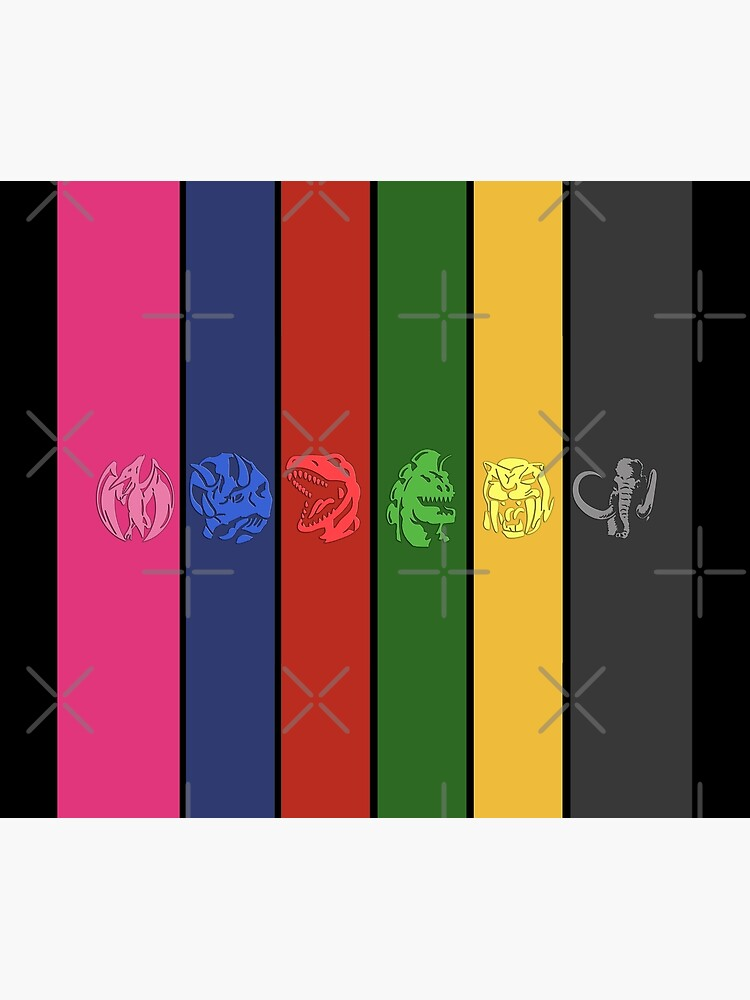 6 Colored Zord Coins by Ravensclaw3